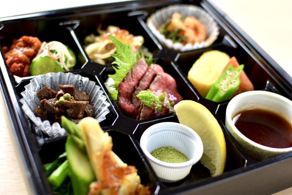 ●前菜:松花堂スタイルの盛り合わせ